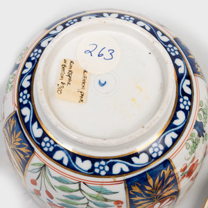 Worcester Porcelain Crested Sugar Bowl and Cover in an 'Imari' Pattern