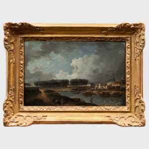 Attributed to Pierre-Antoine Demachy (1723-187): Vue au Magasin au Poudre et L'Arsenale