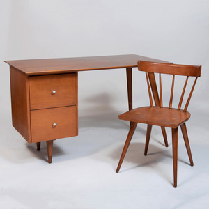 Paul McCobb Stained Birch 'Planner Group' Desk and Chair Set