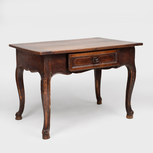 Louis XVI Provincial Oak Side Table