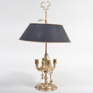 Louis XVI Style Brass Four-Light Bouilotte Lamp