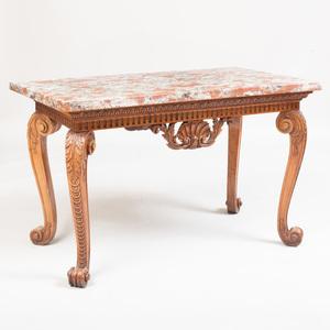 George II Style Mahogany Center Table