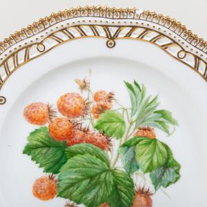 Set of Ten Royal Copenhagen Porcelain 'Flora Danica' Plates