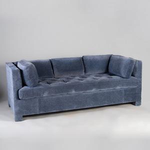 De Angelis Blue Velvet Upholstered Sofa