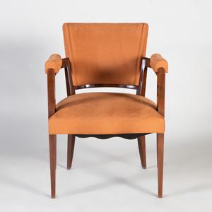 Art Deco Style Walnut Armchair