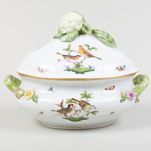 Herend Porcelain Tureen and Cover, in the 'Rothschild Bird' Pattern