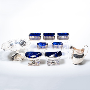 Group of English and American Silver Condiment Wares