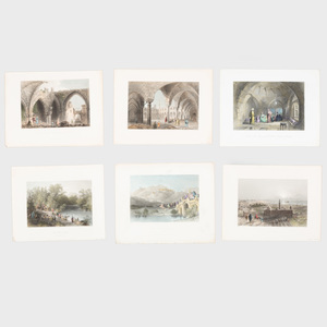 European School: A Miscellaneous Group of Sixteen Views of the Middle East and North Africa