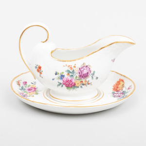 Royal Copenhagen Porcelain Sauce Boat on Fixed Stand