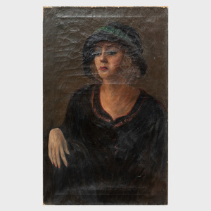 20th Century School: Pair of Portraits