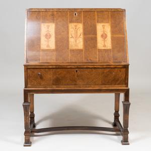 Swedish Inlaid Birch Slant-Front Desk, 20th Century