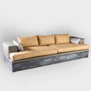 Large Cerused Oak Sofa