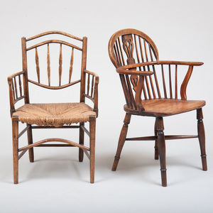 Yew Wood Windsor Chair