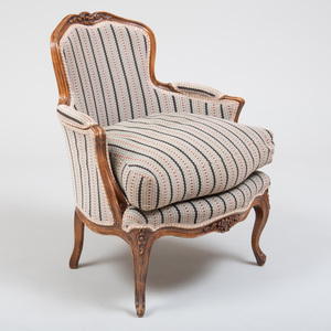 Two Louis XV Style Beechwood Bergères