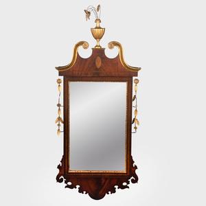 Federal Parcel-Gilt Mahogany Mirror