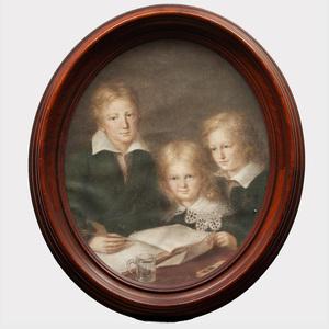 American School: Portrait of Three Children
