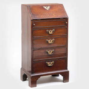 George III Mahogany Child's Slant-Front Desk