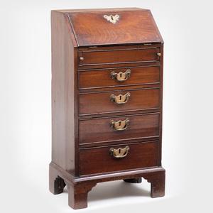 George III Mahogany Child's Slant-Front Desk