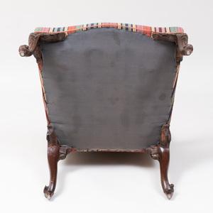 Fine George III Carved Mahogany Armchair