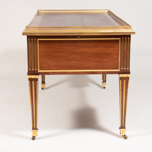Louis XVI Style Gilt-Bronze Mahogany Desk