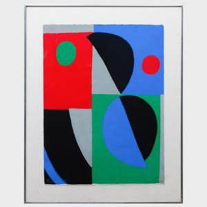 Sonia Delaunay (1885-1979): Untitled, from Poésie de mots, poésie de couleurs