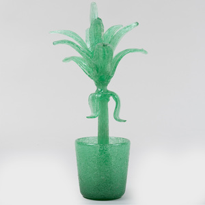Glass Model of a Plant, Attributed to Napoleone Martinuzzi
