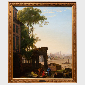 Attributed to Hyacinth de la Pegna (1706-1772): Sketching the Ruins