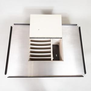 Gavina Chrome and Ebonized Caori Coffee Table, Designed by Vico Magistretti