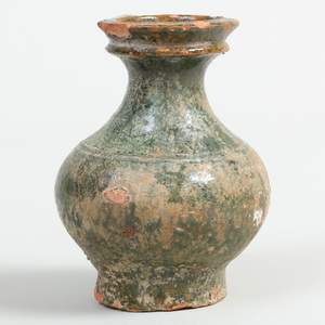 Chinese Green Glazed Pottery Jar
