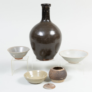 Group of Chinese and Asian Porcelain and Earthenware Vessels