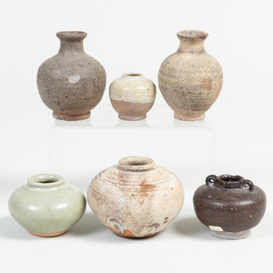 Group of Asian Porcelain and Earthenware Vessels