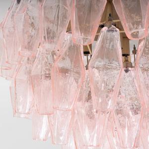 Carlo Scarpa Style Murano Glass 'Poliedri' Chandelier