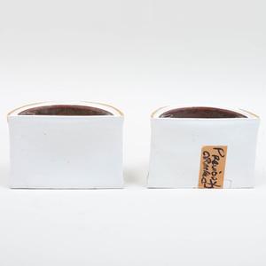 Pair of English Porcelain Bough Pots