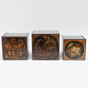 Chinoiserie Lacquer Nesting Boxes