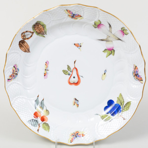 Herend Porcelain Circular Platter, in the 'Market Garden' Pattern