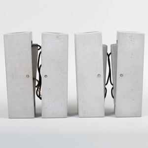 Set of Eight Bentu Concrete Sconces