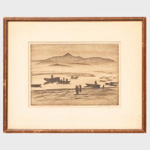 Beatrice S. Levy (1892-1974): Bay at Fuenterrabia