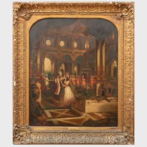 Attributed G.P. Jenner (active c. 1830-1850): Moorish Interior Scenes: A Pair