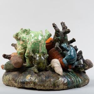 David Gilhooly (1943-2013): Frog Orgy
