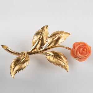 18K Tiffany & Co. Flower Brooch