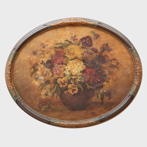 20th Century School: Still Life with Flowers in a Brown Vase