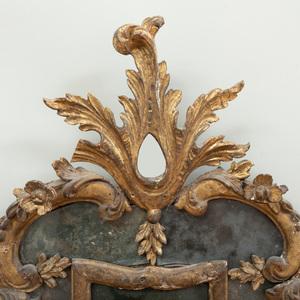 Pair of Italian Rococo Giltwood Girandole Mirrors