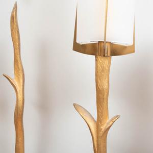 Set of Six Agostini Gilt-Metal Two-Light Wall Lights