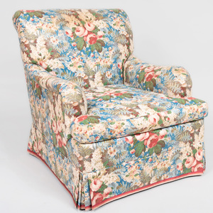 Chintz Upholstered Armchair