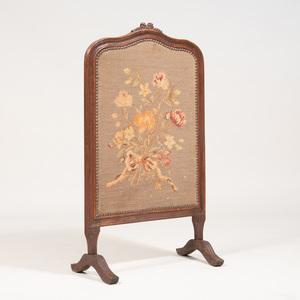 Victorian Style Needlework Firescreen