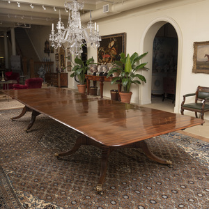 Fine Late Regency Plumb Pudding Mahogany Extension Dining Table