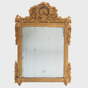 Louis XVI Giltwood and Painted Mirror