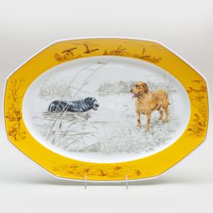 Hermes Transfer Printed Porcelain Platter