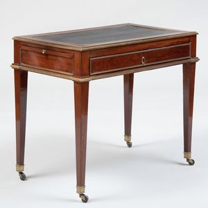 Directoire Brass-Mounted Mahogany Table à Écrire