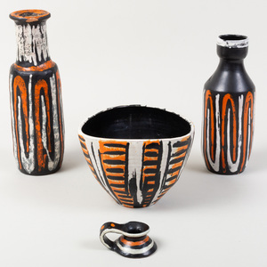 Four Gorka Livia Pottery Vessels
